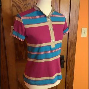 Vintage 70s bright stripes funky retro shirt